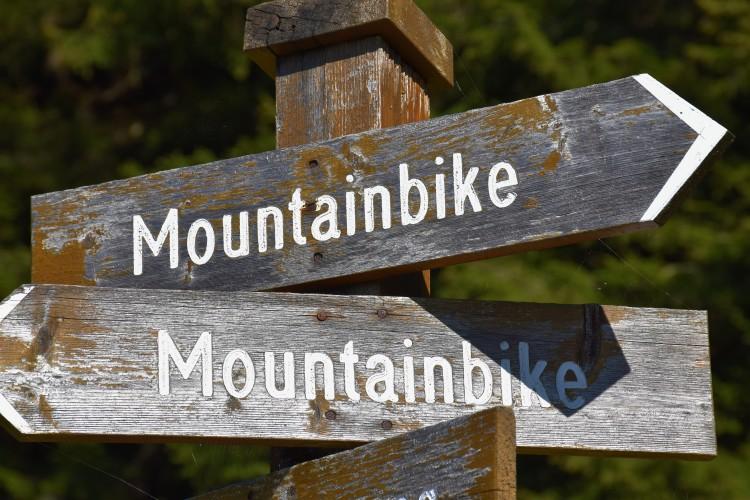 Mountainbike Schilder Saalbach