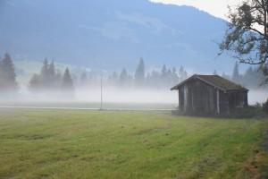 Camping Neunbrunnen im Nebel